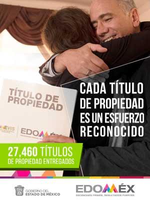 27,460 Títulos de propiedad en el EDOMÉX