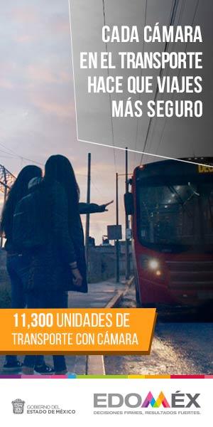 Cámaras seguridad en transporte público en EDOMÉX