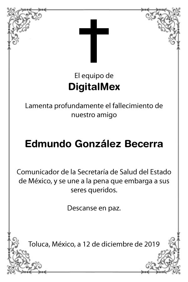 Esquela Edmundo González Becerra