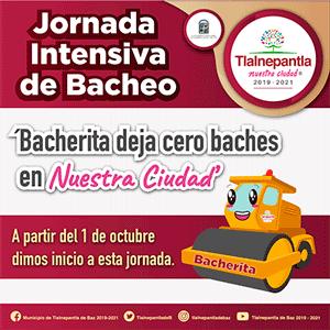 Jornada intensiva de bacheo Tlalnepantla