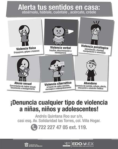 Denuncia cualquier tipo de violencia
