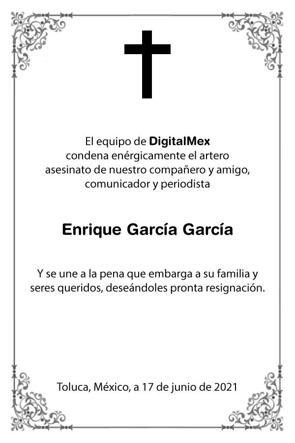 Esquela Enrique García García