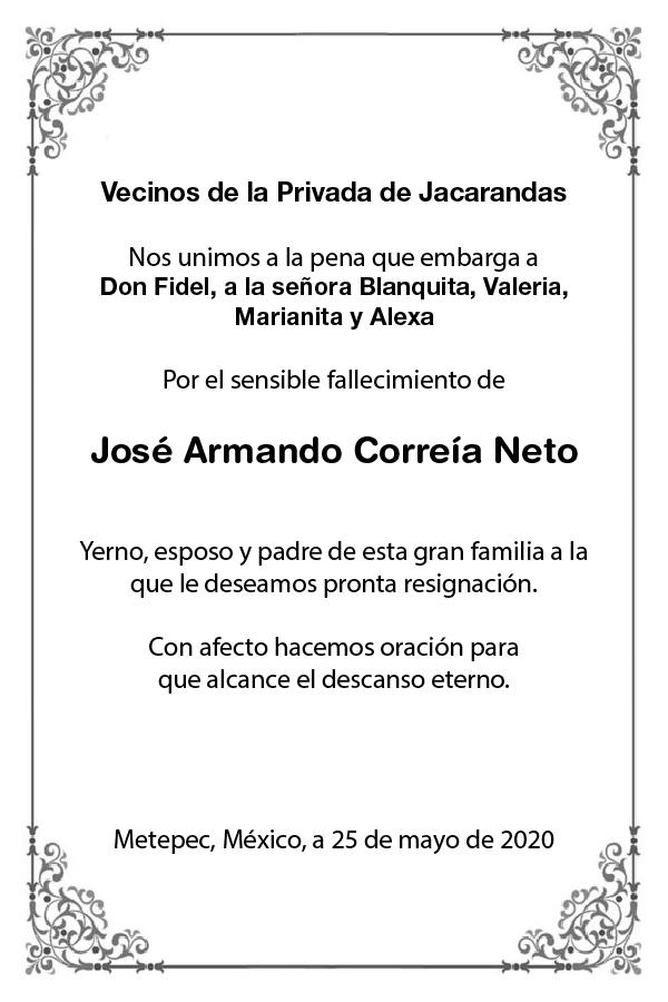 Esquela José Armando Correía Neto